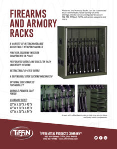 Firearms and Armory Racks Cut Sheet