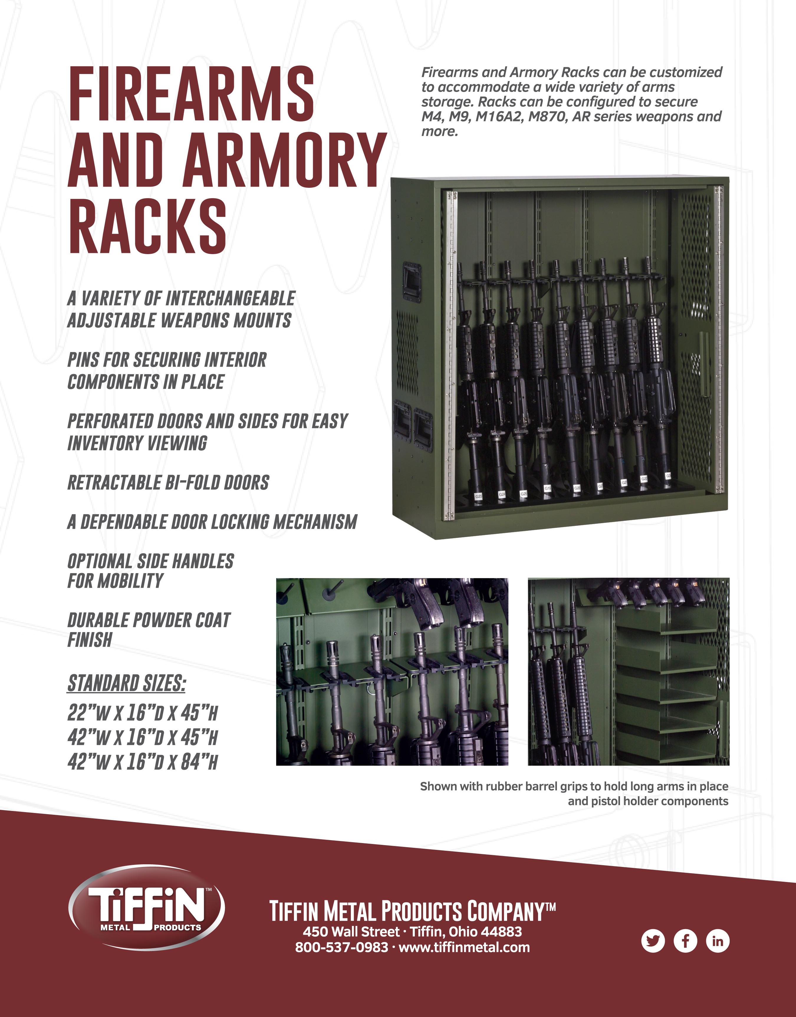 Firearms and Armory Racks Cut Sheet