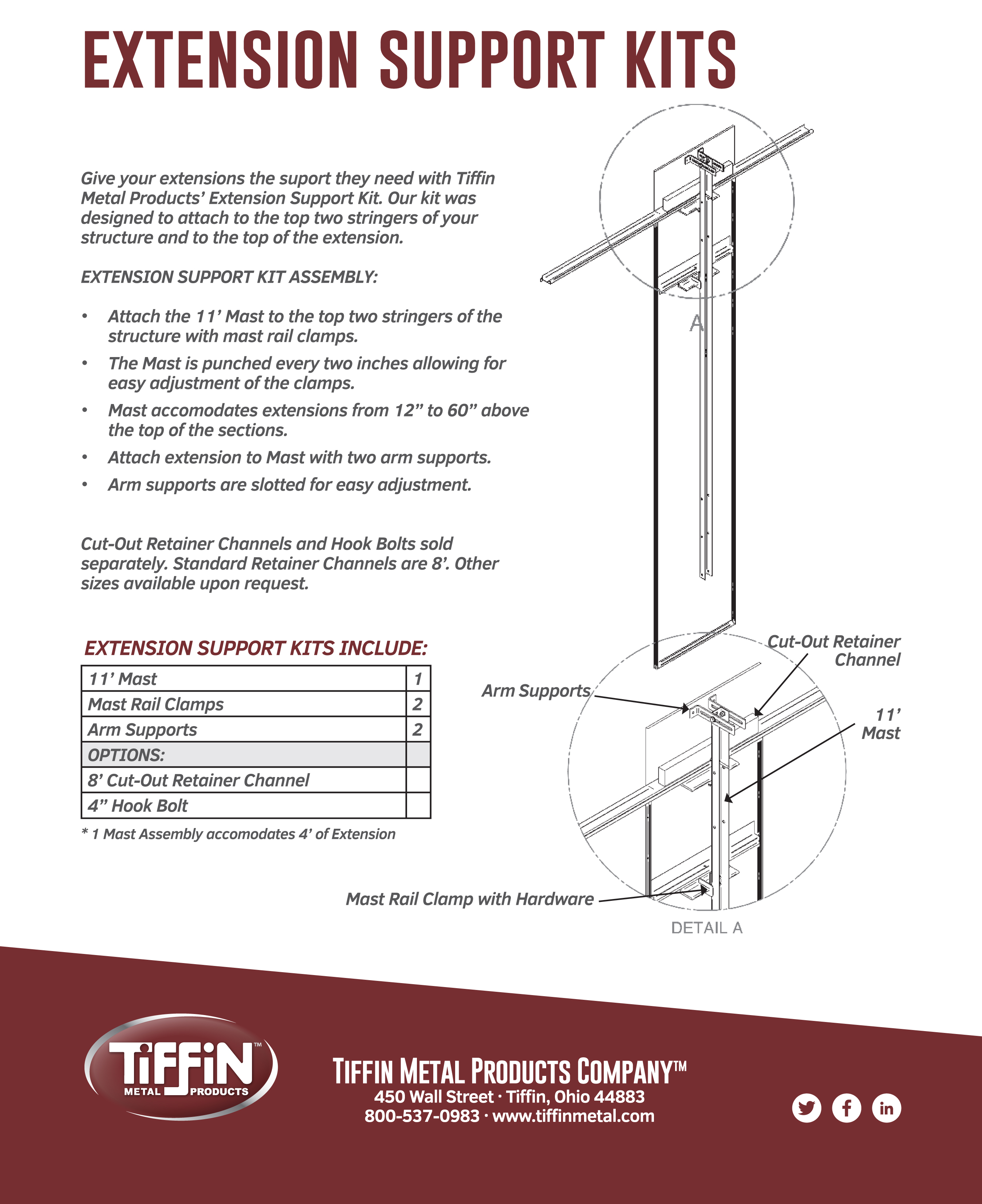 Extension Support Kit Assembly Instructions