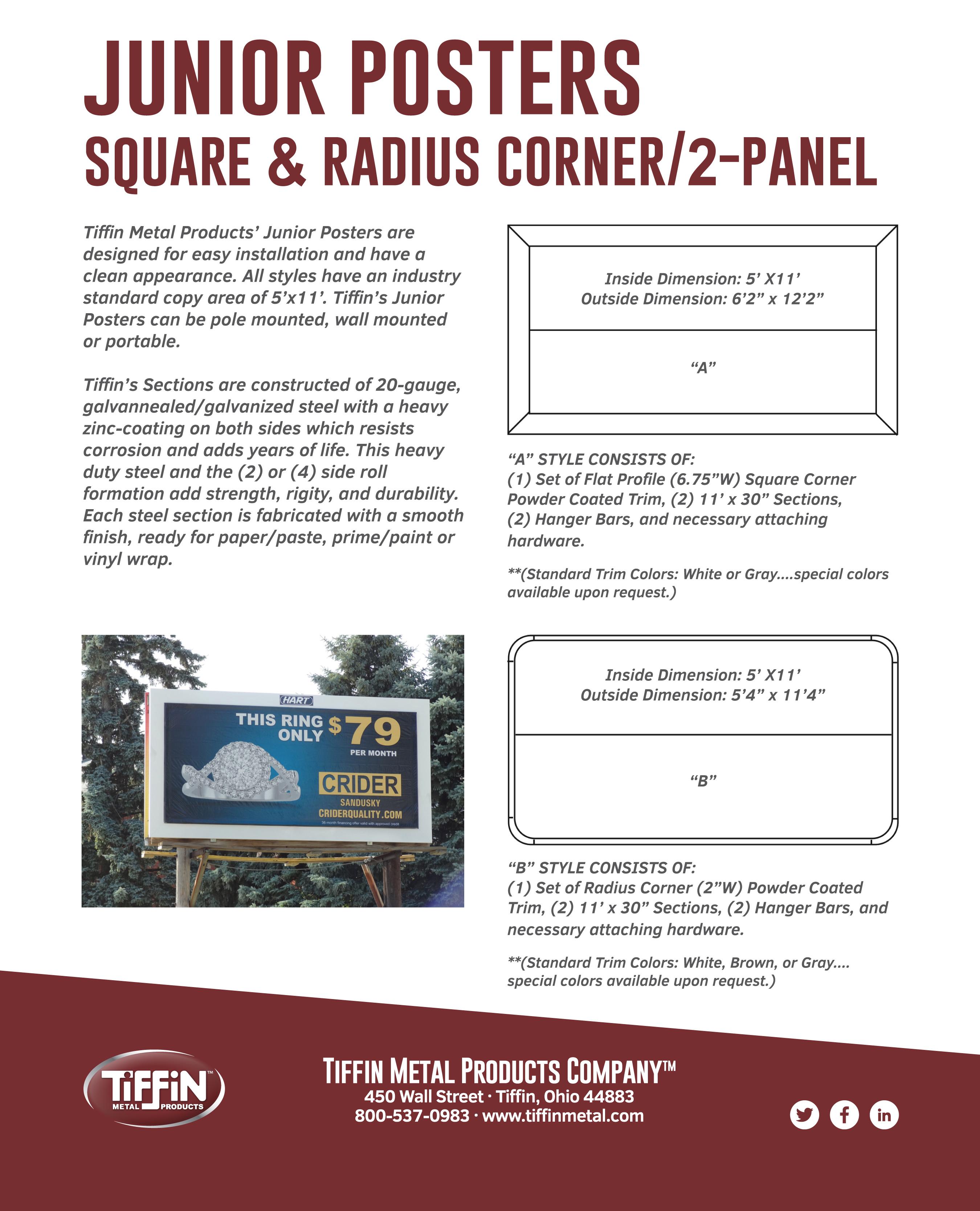 Junior Posters 2 Panel Cut Sheet
