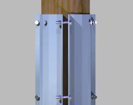 Wood Pole Reinforcement Kit Side View