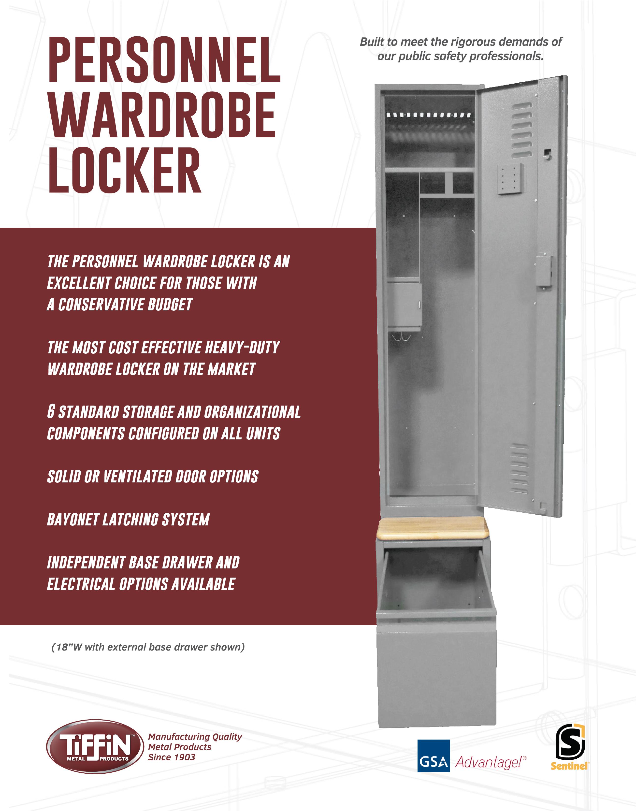 Personnel Locker Cut Sheet