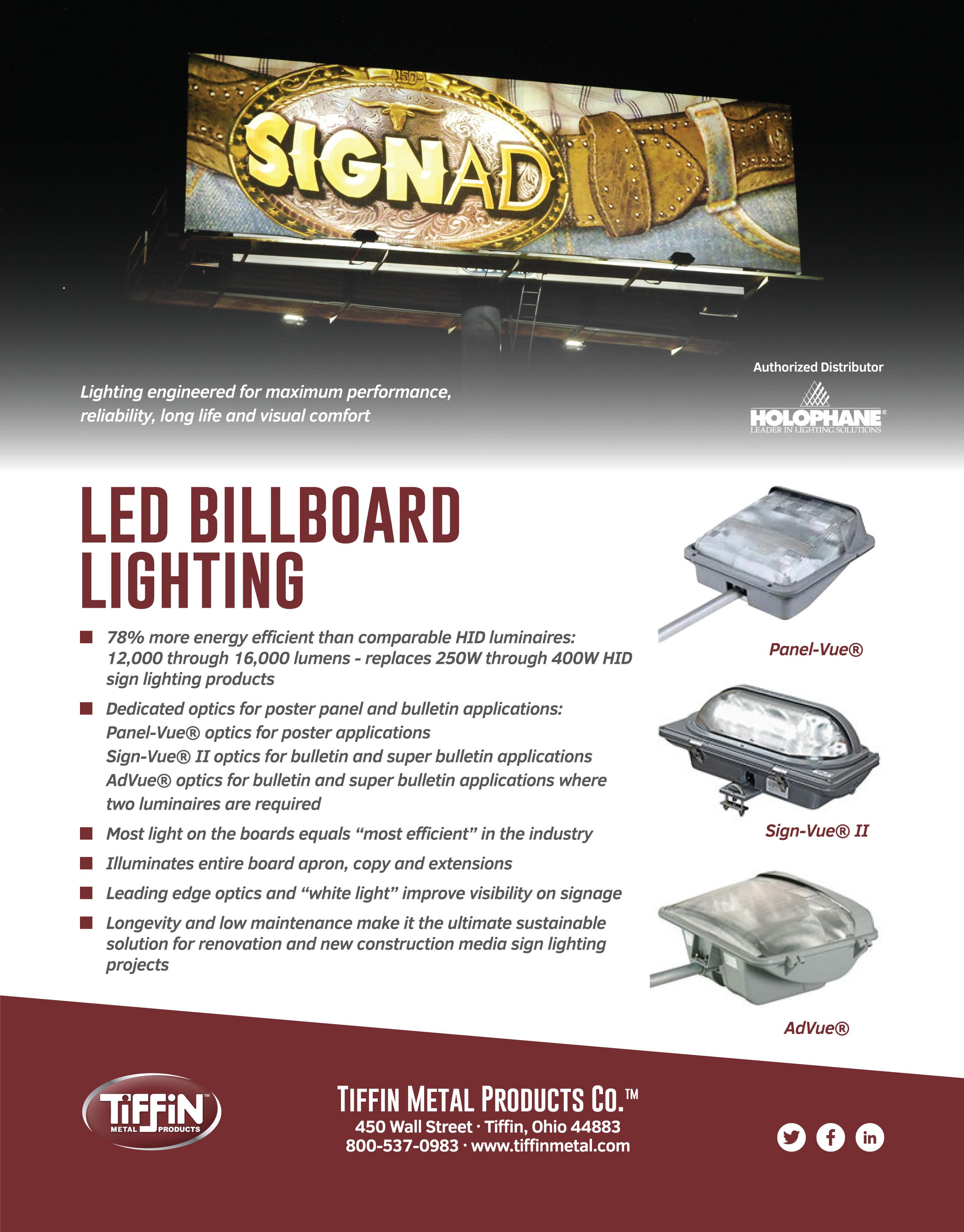LED Billboard Lighting Cut Sheet